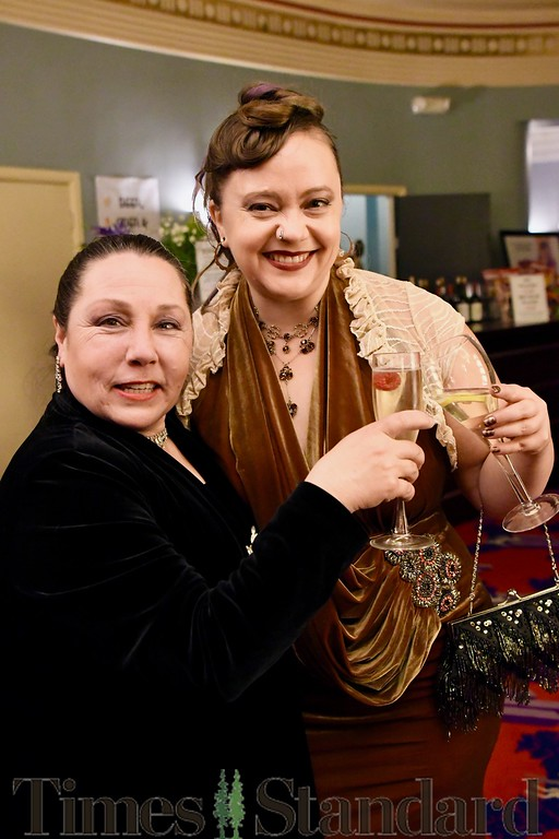 . Denise Lynn Ryles and friend have a toast.  José Quezada�For the Times-Standard