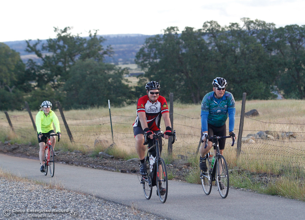 . Cyclist ride through Butte County for the 35th Annual Chico Wildflower Century presented by Sierra Nevada Brewery and Chico Velo April 24, 2016 in Chico, Calif. Starting at the Fairgrounds in Chico cyclists rode distances ranging from 30-120 miles taking them through Paradise, Oroville, Durham and Chico.  (Emily Bertolino -- Enterprise-Record)