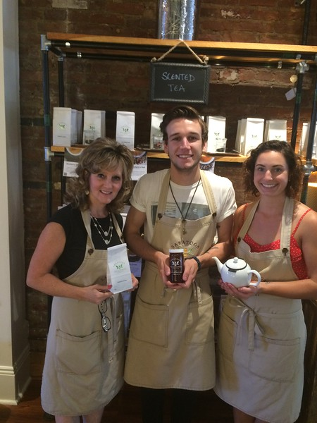 Pumpkin Spice Tea and Honey at Saratoga Tea and Honey<br /> (from left to right) Aunt Sue, Nick Zicich and Lillian Seabury