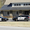 STAN HUDY - SHUDY@DIGITALFIRSTMEDIA.COM<br /> Saratoga Springs Police Department vehicles are packed in front of the Adirondack Trust located at 162 Northline Road in Ballston Spa Saturday afternoon as a helcopter circles overhead.