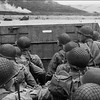 US assault troops approach Utah Beach in a barge, 06 June 1944 as Allied forces storm the Normand beaches on D-Day. D-Day, is still one of the world's most gut-wrenching and consequential battles, as the Allied landing in Normandy led to the liberation of France which marked the turning point in the Western theater of World War II. AFP PHOTO