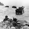 Canadian troops in landing crafts approach a stretch of coastline code-named Juno Beach, near Bernieres-sur-mer, as the Allied Normandy invasion gets under way, on June 6, 1944. (AP Photo)