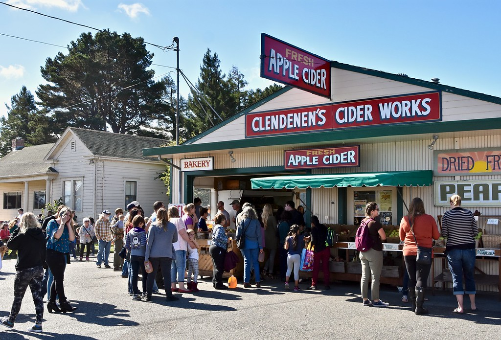. The 33rd annual Apple Harvest Festival kicked off Saturday with the historic Clendenen�s Cider Works\' apple orchard  the hub of fun. José Quezada�For Times-Standard