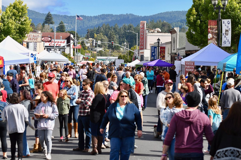 . Downtown Main Street Fortuna was part of the 33rd Apple Harvest Festival with an old-fashioned carnival. José Quezada�For Times-Standard