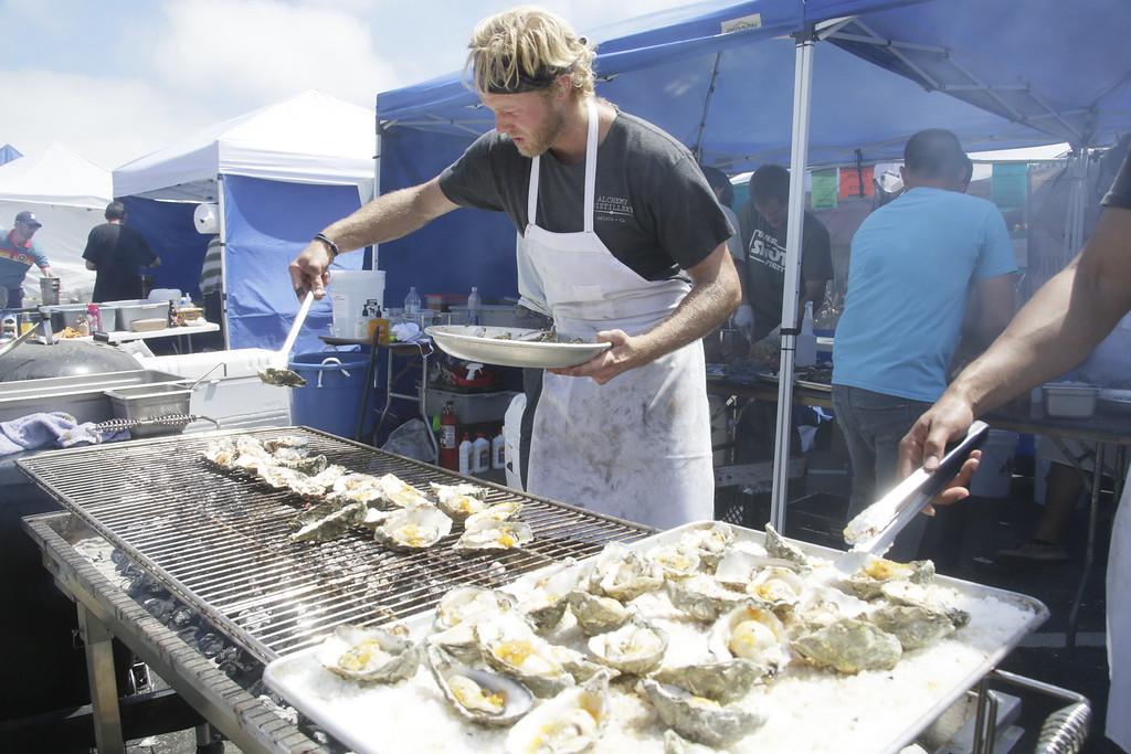 . Shaun Walker � The Times-Standard  Gibson Dejode of Salt Fish House
