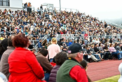 Arcata High School parents packed Panther Stadium at McKinleyville High School for graduaion. (José Quezada—For the Times-Standard)