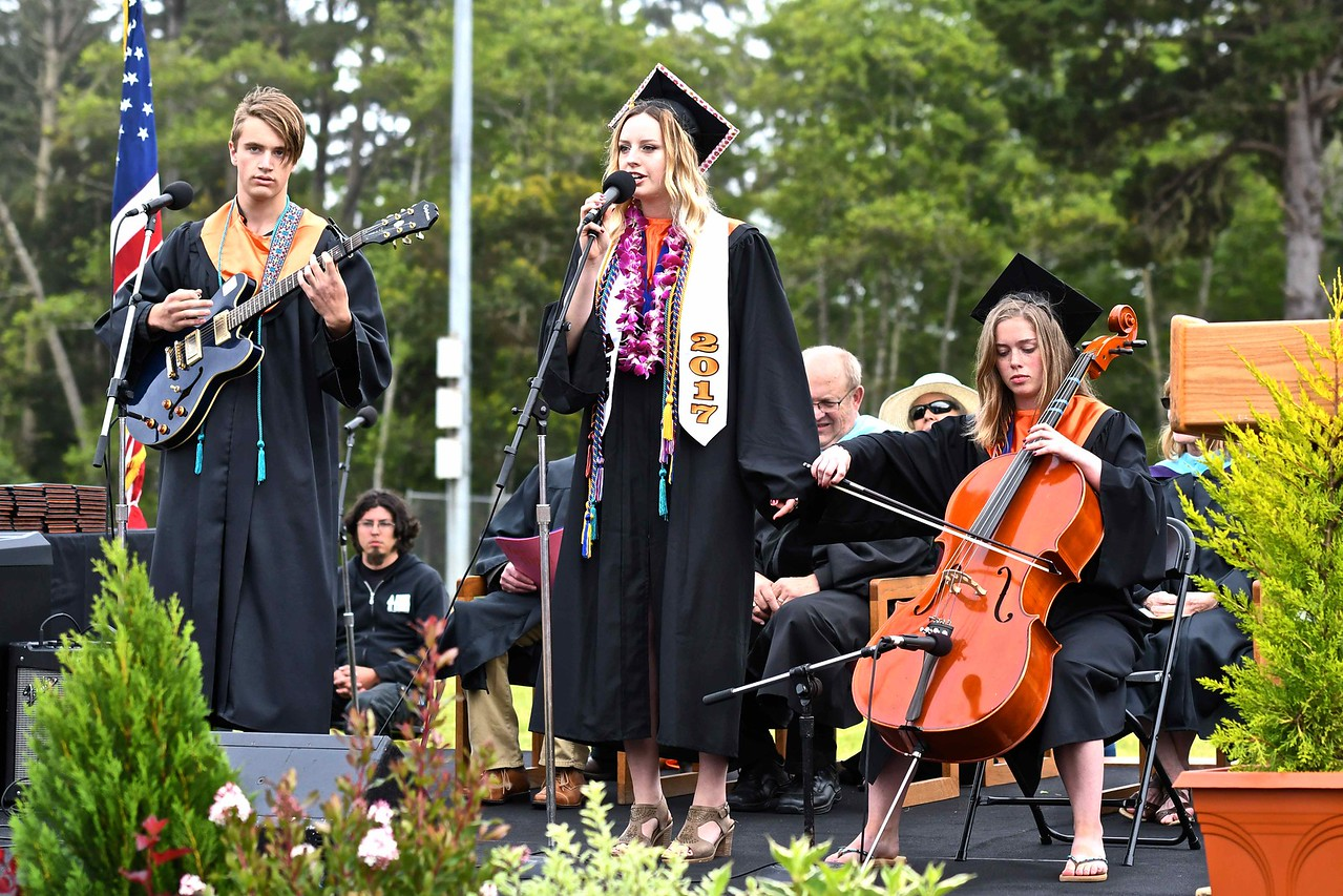 Garrett Adamo, Alida Nicklas, and Marina Sonn perform 1, 2, 3, 4 by Feist. (José Quezada—For the Times-Standard)
