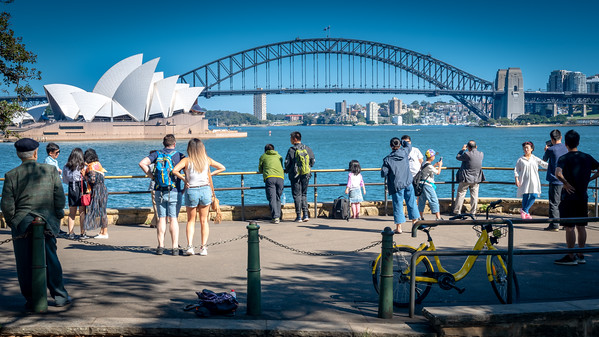 Sydney, March 2018, Opera House and Harbour Bridge.