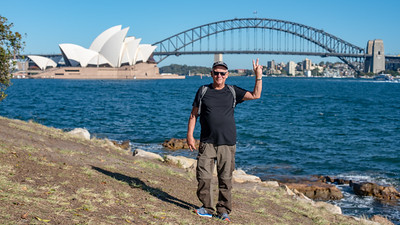 Sydney, March 2018, Opera House and Harbour Bridge and me.