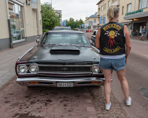 Åland July 2018, plymouth, old cars gathering.