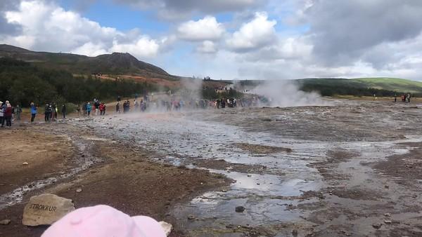 Geisir hot spring, Iceland, August 2019.