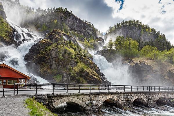 Norway, Låtefoss close to Odda.