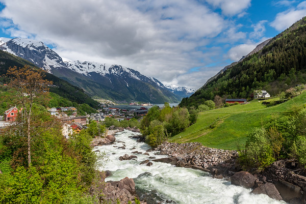 Norway, Odda and Opo River.