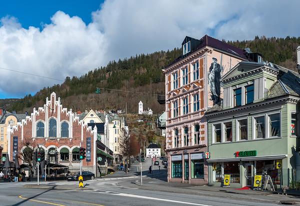 Norway, Bergen, Torget.