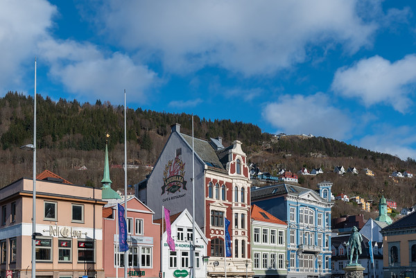 Norway, Bergen, Vågsallmenningen.