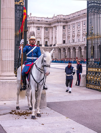 Madrid, Changing of the Guards at Palace Real.