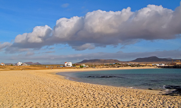 Fuerteventura, El Cotillo, evening sun at the beach, near El Cotillo.