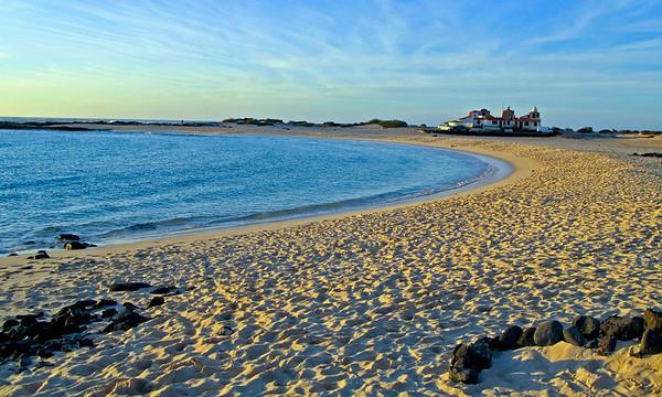 Fuerteventura, El Cotillo, evening sun at the beach, near El Cotillo.