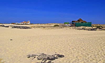 Fuerteventura, El Cotillo, restaurant on the beach, near El Cotillo.