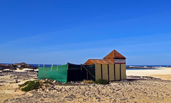 Fuerteventura, El Cotillo, restaurant on the beach, near El Cotillo.