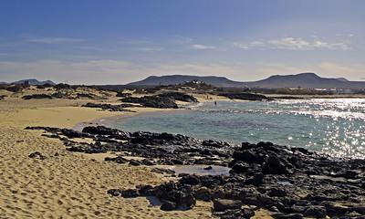 Fuerteventura, El Cotillo, beach near El Cotllo.