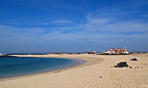 Fuerteventura, El Cotillo, morning time at the beach, near El Cotillo.
