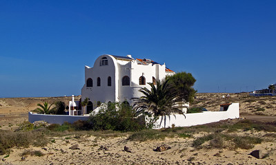 Fuerteventura, El Cotillo, one of the funny houses near El Cotillo.