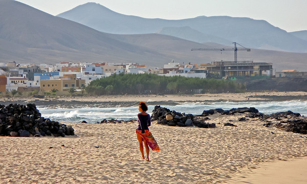 Fuerteventura, El Cotillo, morning time at the beach, near El Cotillo