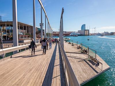 Barcelona, Rambla de Mar, Port Vell.