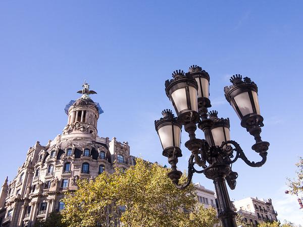 Barcelona, Passeig de Garcia, La Union y El Fenix.