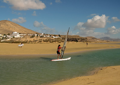 Windsurfing school south of Costa Calma.