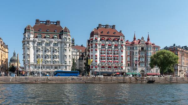 Stockholm July 2018. Hotel Esplanade og Hotel Diplomat.