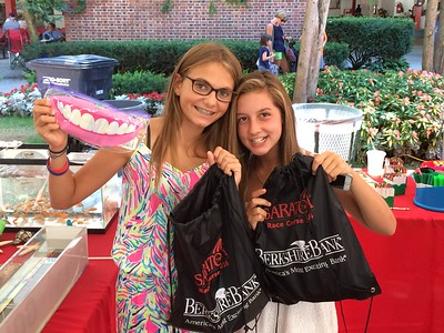 PHOTOS: Backpack giveaway at Saratoga Race Course