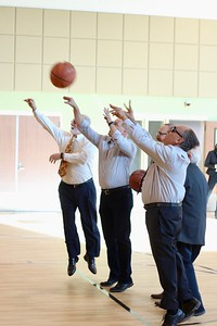 HANS PETER - DAILY DEMOCRAT Yolo County Supervisors tested out the new gym added to the county's Juvenile Detention Facility.