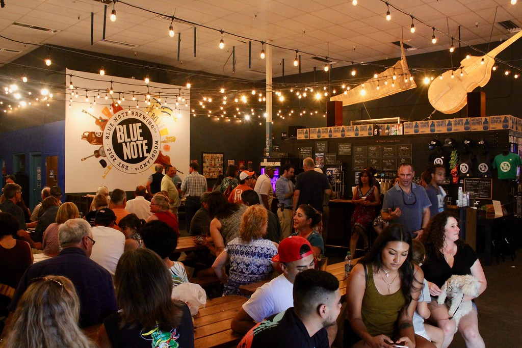 . HANS PETER - DAILY DEMOCRAT Blue Note Brewing Company turned two this year. They hosted one Thursday Night Concert on account of the heat outside.