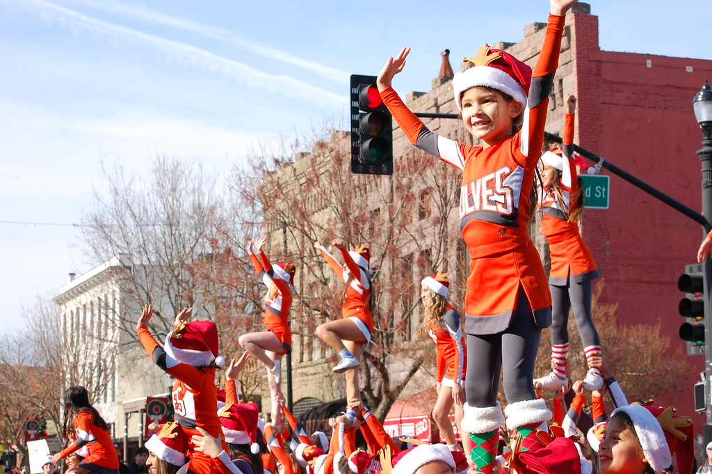 . JENICE TUPOLO - DAILY DEMOCRAT Downtown Woodland is transformed to a winter wonderland for the 53rd annual Holiday Parade.