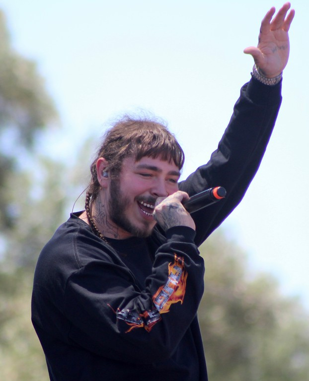 . HANS PETER - DAILY DEMOCRAT World famous Post Malone arrived in Woodland with Ludacris and Li\'l Uzi Vert for the 102.5 Music Festival on a very hot day.