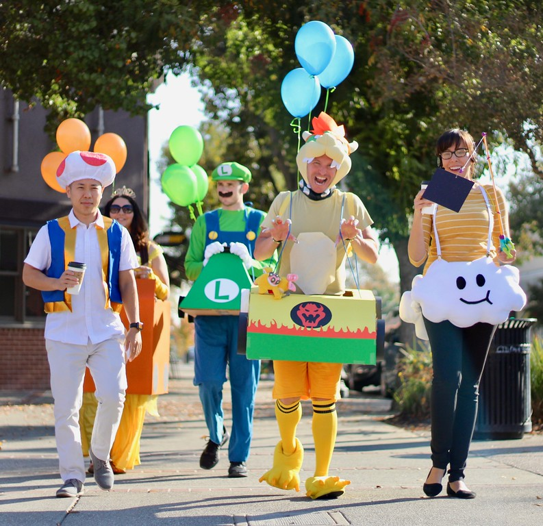 . HANS PETER -- DAILY DEMOCRAT This group of Mario Kart characters raced down Main Street on Halloween.