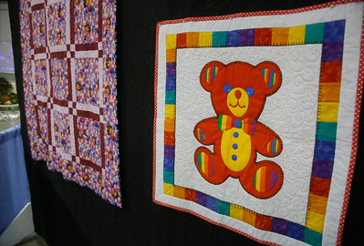 Shaun Walker — The Times-Standard  A variety of quilts are on display at the Best of Humboldt Fair on Saturday.