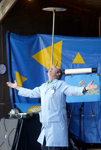 Shaun Walker — The Times-Standard  Todd Victor demonstrates a concept at the Professor Smart's Fun with Physics Show at the Best of Humboldt Fair at Redwood Acres on Thursday. The fair runs through Sunday at 5 p.m., with the carnival otherwise open 12 p.m. to midnight, exhibit buildings 11 a.m. to 8 p.m., and several shows taking place each afternoon and early evening. For more information, go to redwoodacres.com.