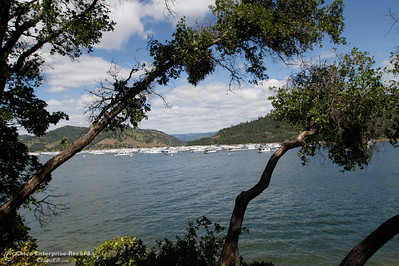 A view of Lake Oroville after crossing Bidwell Bar Suspension Bridge on to Wicke Island April 25, 2016 at the Bidwell Bar in Oroville, Calif. (Emily Bertolino -- Enterprise-Record)