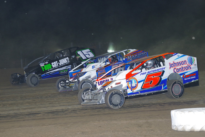 "Sportsman action Pat Jones #5, Mike Coffey #06 & Adam Pierson #15 courtesy Kustom Keepsakes, Mark Brown/Ryan Karabin. For reprints vist: <a href=""https://nepart.smugmug.com"">https://nepart.smugmug.com</a>"