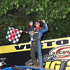 "Mod winner Stewart Friesen #44 w/son Parker courtesy Kustom Keepsakes, Mark Brown/Ryan Karabin. For reprints vist: <a href=""https://nepart.smugmug.com"">https://nepart.smugmug.com</a>"