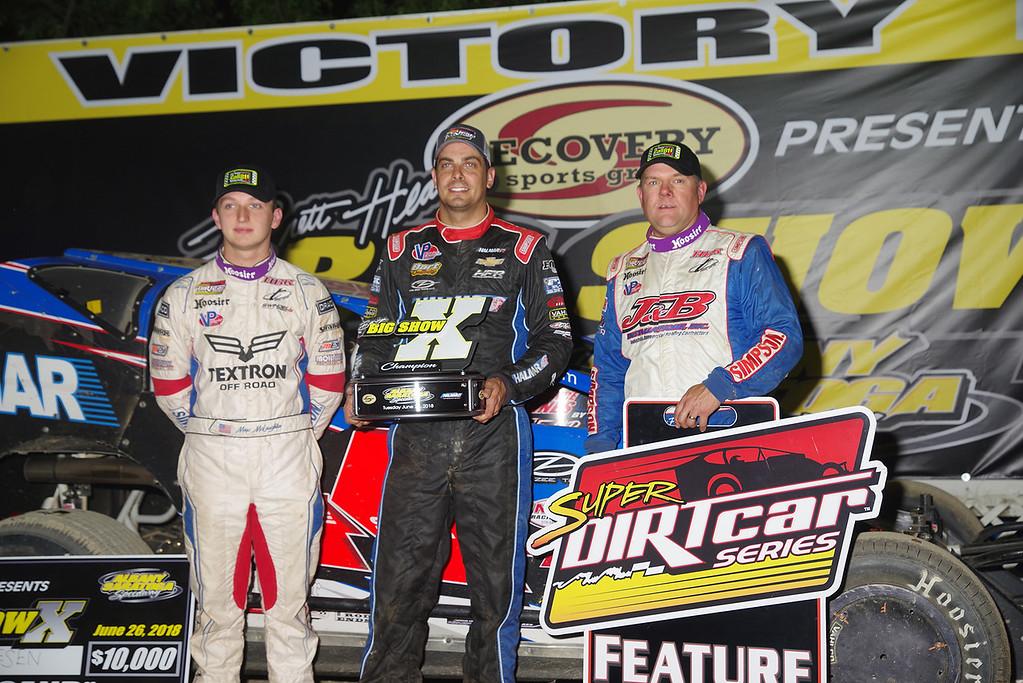 . Top 3 Max McLaughlin, Stewart Friesen & Jimmy Phelps courtesy Kustom Keepsakes, Mark Brown/Ryan Karabin. For reprints vist: https://nepart.smugmug.com