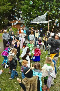 "Brian Maloney ""Grandpa Bubbles"" was a hit for the Halloween kid crowd. José Quezada—For Times-Standard"