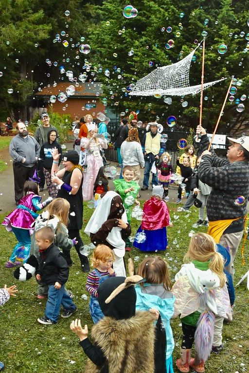 ". Brian Maloney ""Grandpa Bubbles\"" was a hit for the Halloween kid crowd. José Quezada�For Times-Standard"