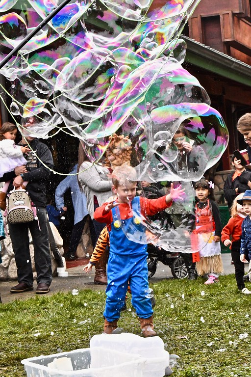 . Giant bubbles, giant fun at the Boo at the Zoo Sunday. José Quezada�For Times-Standard