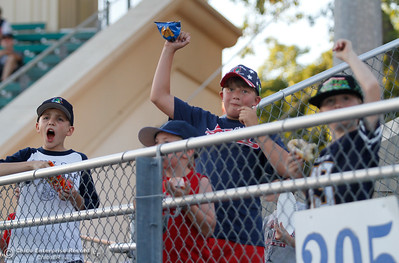 Chico Heat fans cheer during a baseball game between the Chico Heat and the Marysville Gold Soxs June 23, 2016 in Chico, Calif. (Emily Bertolino -- Enterprise - Record)