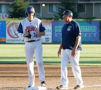 Chico Heat's David Noworyta during a baseball game between the Chico Heat and the Marysville Gold Soxs June 23, 2016 in Chico, Calif. (Emily Bertolino -- Enterprise - Record)