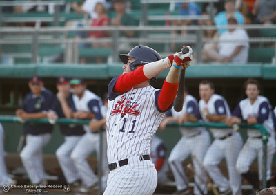 Chico Heat's Andrew Pratt during a baseball game between the Chico Heat and the Marysville Gold Soxs June 23, 2016 in Chico, Calif. (Emily Bertolino -- Enterprise - Record)